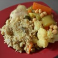 מרק ירקות עם עוף וחומוס לקוסקוס